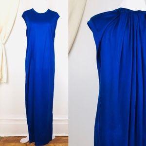 Acne Studios Bree Tencel Blue Fluid Maxi Dress M